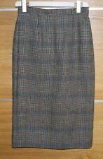 Checked wool blend midi skirt size M