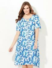 Catherines Sleepwear Size 4X Watercolor Floral Print Polyester Sleep Gown