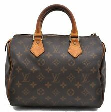 Authentic Louis Vuitton Monogram Speedy 25 Hand Bag M41528 LV A4543