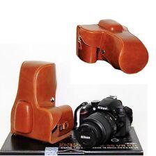 Pu Cuero Cámara Funda Bolso Para Nikon D3300 D3200 3100 Cámaras Con Lente 18-55mm