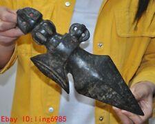 Hongshan Culture Old jade Hand-carved Dorje Ax Phurpa Dagger Elephant Fortuna