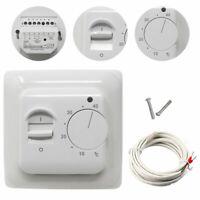 Unterputz Thermostat weiß Bodenfühler elektro Fußbodenheizung Regler Sensor DE