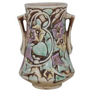 Roseville Pottery Morning Glory 1935 White Vase 724-6