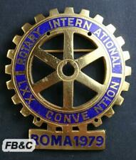 Large 1979 Rotary International Convention Enamel Badge - Rome