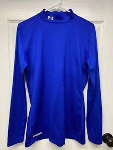 Under Armour ColdGear #1215968 Women's L/S Fitted Mock Neck Shirt: XL, Blue