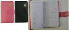 5 year undated leathergrain A5 diary x 2 single - pink & black, TALL 3590B/P