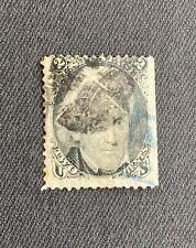 Vintage US Stamp, #73... Black & Blue Fancy Cancel