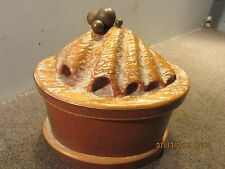 NAUTICAL HAND CARVED WOODEN CLAM SHELL BOX