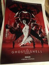 Ghost in the Shell Movie Poster  Scarlett Johansson Authentic From IMAX Preview