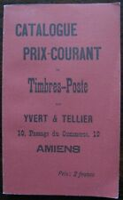 Catalogue Prix Courant De Timbres Poste. Facsimile of 1897 Stamp Catalogue