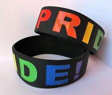LGBT Gay Lesbiche TRANS Pride Silicone Nero Fascia da polso / Bracciale: