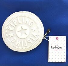 KIPLING Aeryn Zip Pouch Coin Case  AC8073 Frosted White NWT