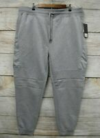 Southpole Joggers Mens 4XB Grey Contrast Trim Skinny Sweat Jogger Pants New