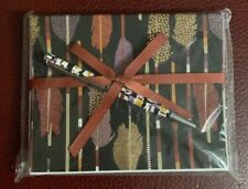 NEW Vera Bradley FEATHER ARROWS Notecards with Pen Set  (10 count) FREE SHIP