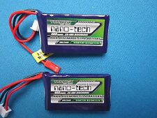 2 TURNIGY NANO-TECH 460mAh 2S 7.4V LIPO BATTERY JST QUAD SHOCK PARK SLOW FLYER
