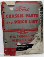 1928-1937 Ford Chassis Parts & Price List Book Model A B 40 46 48 50 51 67 68-79