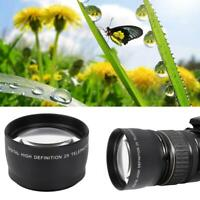 Newest 55mm 2X HD Teleconverter Telephoto Lens for 55mm Mount Camera Accessory
