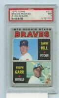 GARRY HILL / RALPH GARR 1970 Topps Baseball Rookie Card #172 PSA Graded NM 7