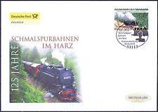 BRD 2012: Harzer Schmalspurbahnen! Post-FDC der selbstklebenden Nr. 2916! 1809