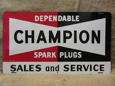 Vintage Champion Spark Plugs Sign > Antique Automotive Part Store Dealer 8428