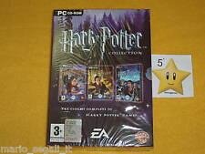 HARRY POTTER COLLECTION PC 3 CD-ROM 3 GIOCHI NUOVI REGALO