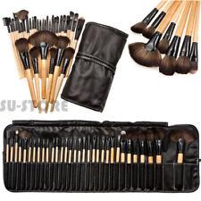 32pcs Professional Soft Cosmetic Eyebrow Shadow Makeup Brush Kit + Pouch Bag SUU