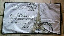 "EIFFEL  Tower PARIS Postale FRENCH Pillow Shams PAIR King  20"" x 36"
