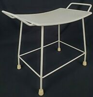Vintage Wrought iron vanity bench Shower Seat Hollywood Regency
