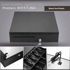 Cash Drawer Box Works Compatible Epson Tray Pos Printers Supermarket 5Bill 5Coin