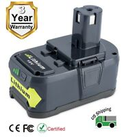New 18V 6.0Ah P103 P108 Li-ion Replacement Battery for Ryobi 18-Volt ONE+ Tool