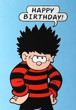 BEANO GREETING CARD: DENNIS THE MENACE HAPPY BIRTHDAY - NEW IN CELLO