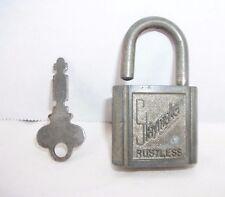 "Vintage Art Deco ""Slaymaker Lock Co."" Rustless Padlock and Key"