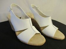 St. John's Bay Synthetic Size 10 M Ankle Strap Wedge Sandal SR$60 NEW
