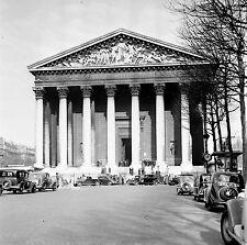 PARIS c.1939 - Autos  La Madeleine - Négatif 6 x 6 - N6 P75