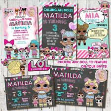 Personalised LOL Surprise DOLL Birthday Invitation Invite Party Magnet