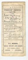 1889 Trust Deed Document, Denver, Colorado - STRONG Family to WOODBURY Family