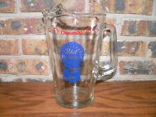 Vintage Original Pabst Blue Ribbon Beer Glass Pitcher with Old Logo