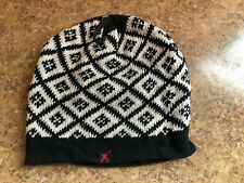 NEW 232  Black White Diamond Skull Cap Beanie Hat