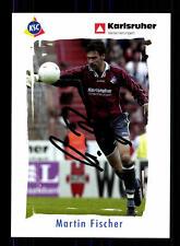 Martin Fischer Autogrammkarte Karlsruher SC 2003-04 Original Sign+A 163219