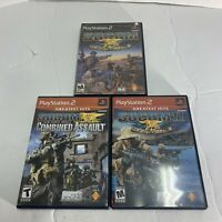 SOCOM US Navy Seals Trilogy 1 2 Assault  PS2 Playstation 2 Game Lot Free Ship