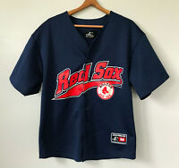 Vintage 90s Logo Athletic Boston Red Sox Navy Mesh Button Up Jersey sz M 1999