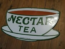 More details for nectar tea enamel sign large sign