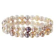 Drei Süßwasser Perlchen mit Nylon Kordel in Farbe Armband Perlenschmuck