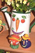 Department 56 32672 Salt & Pepper TOMATO EGGPLANT Vegetable HEALTHY Shaker NEW