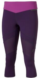 Asics Women's Running Tights 3/4 Performance Tights - Purple - New