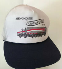 Vintage Menomonie Farmers Union Co-Op Rope Mesh Snapback Trucker Hat