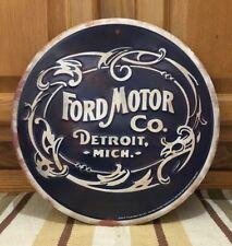 Ford Motor Co Garage Shop Man Cave Gas Oil Auto Car Parts Bar Pub Vintage Style