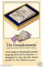 POSTCARD U.S. COMPLEXIONETTE COSMETIC COMPACT ADVERTISING