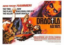 Dracula AD 1972 - Peter Cushing - Christopher Lee - A4 Laminated Mini Poster