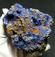 TOP 335g Blue Azurite Malachite Chessylite Crystal Mineral Specimen AA328